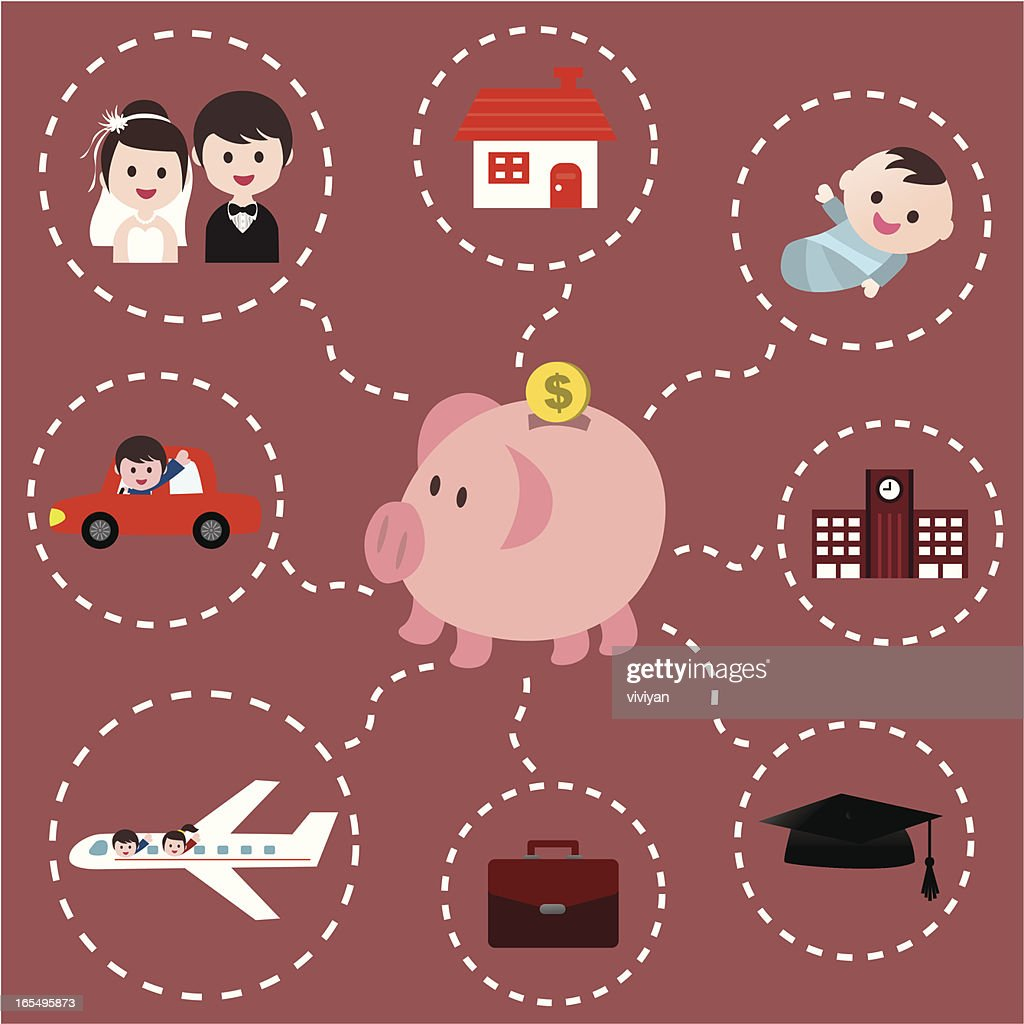 piggy bank : Vector Art