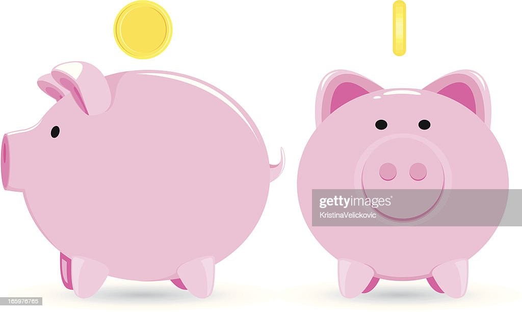 piggy bank stock illustrations and cartoons getty images