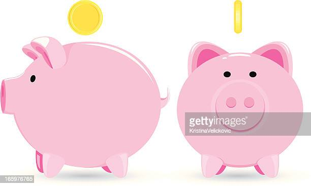 piggy bank - piggy bank stock illustrations