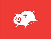 piggy running
