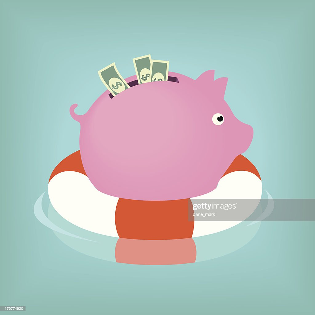 Piggybank afloat