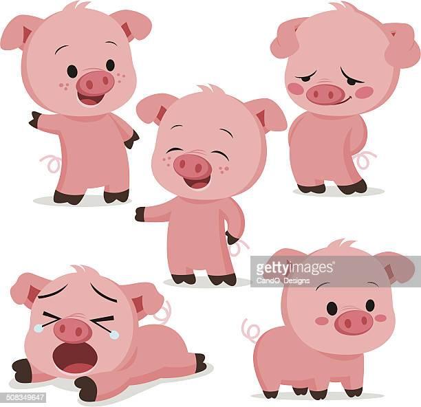 Piglet Cartoon Set