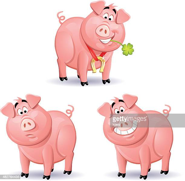 pigs 2 - joy stock illustrations