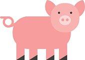 Pigs vector.