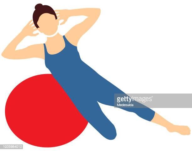 pilates symbol vector sport - aerobics class stock illustrations, clip art, cartoons, & icons