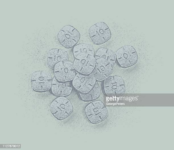 pile of adderall pills - methamphetamine stock illustrations, clip art, cartoons, & icons