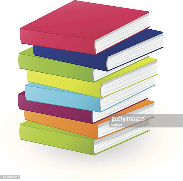 pile of books - stacking stock illustrations