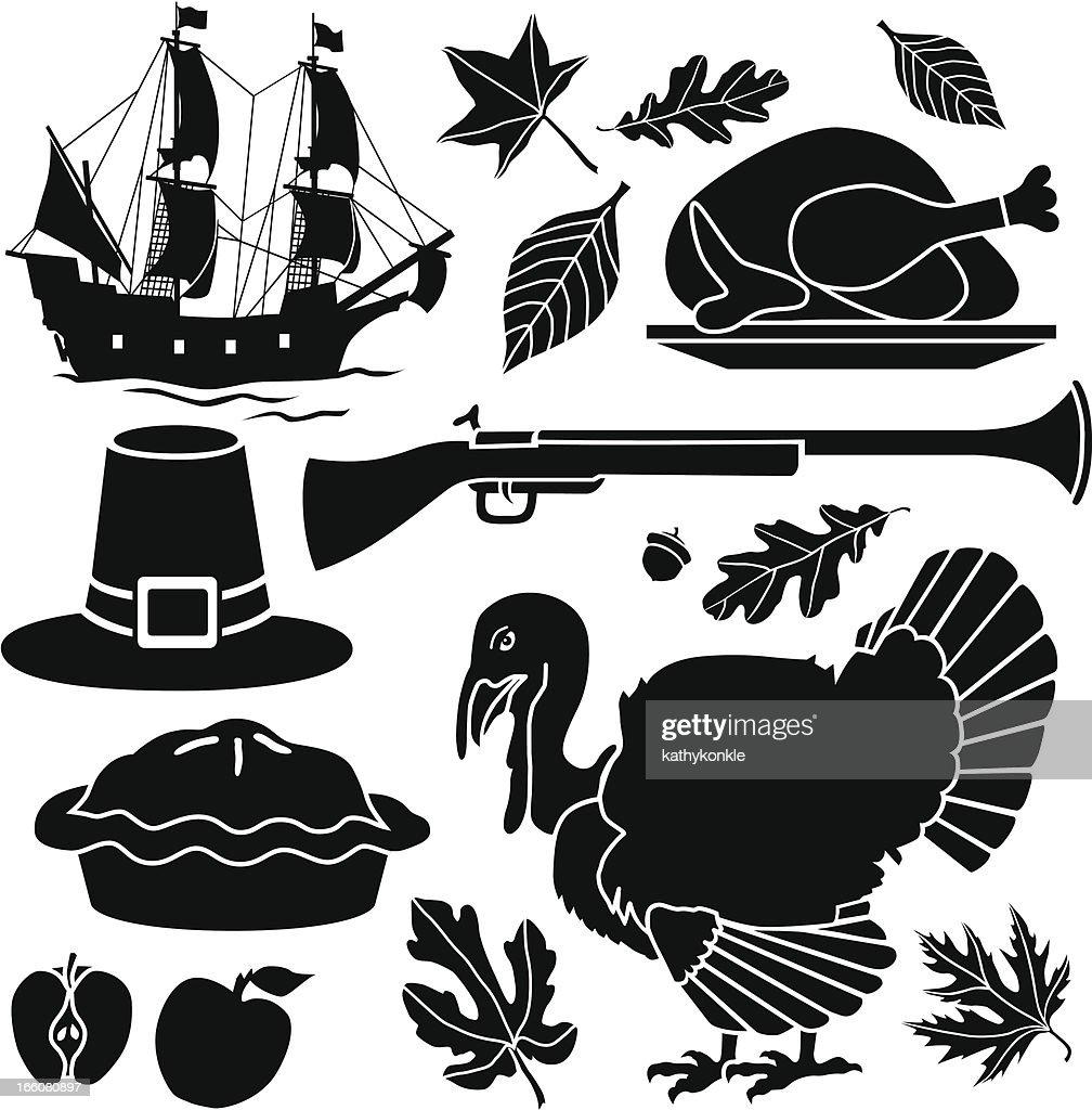 Pilgrim Thanksgiving icons