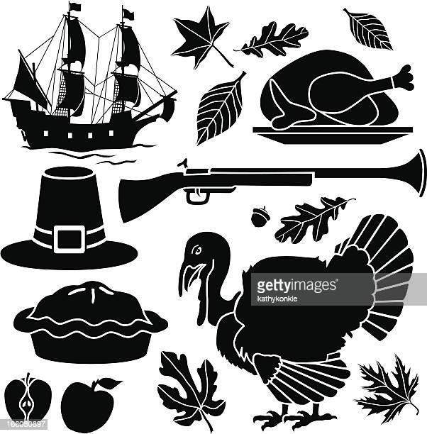 Pilgrim Thanksgiving icons