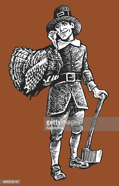 Pilgrim with Thanksgiving Turkey