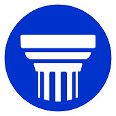 pillar circle blue icon
