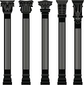 pillar column ancient old roman architecture