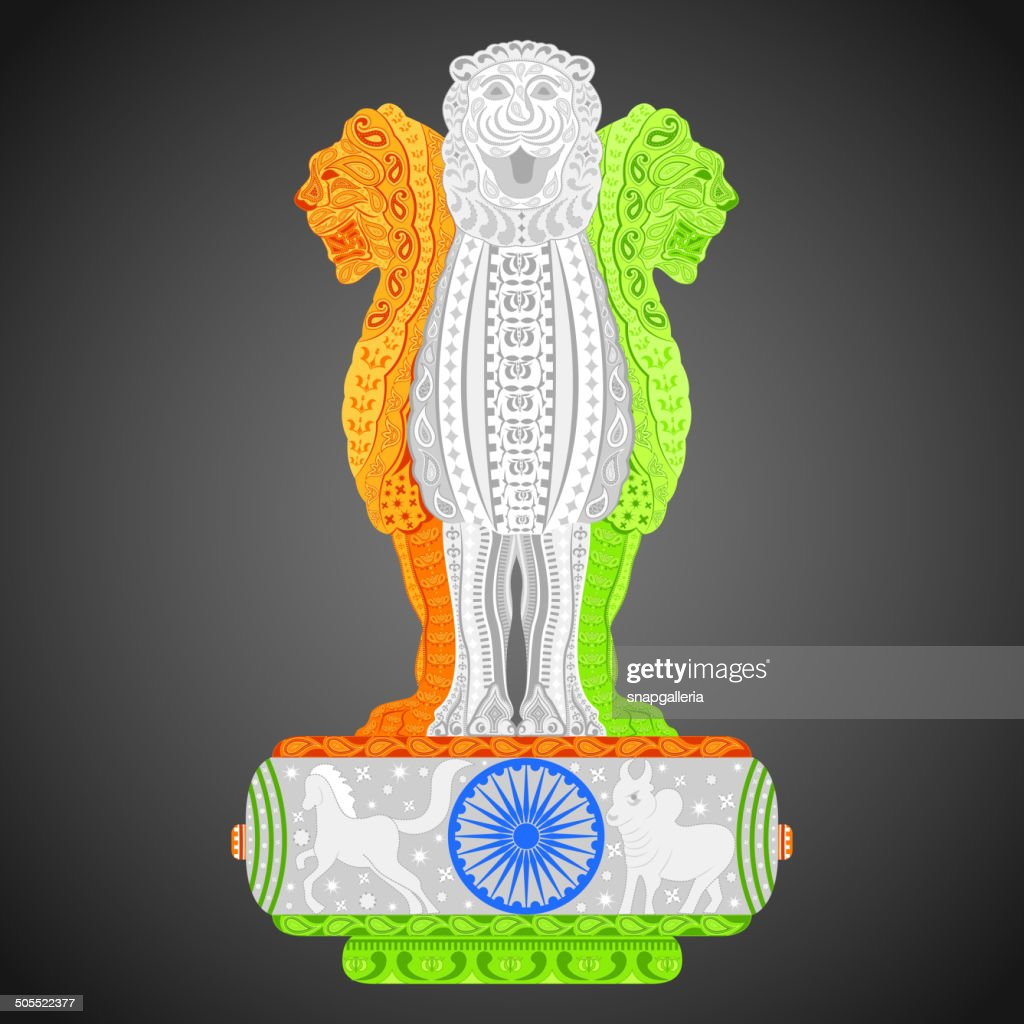 Pillars of Ashoka in Indian flag color