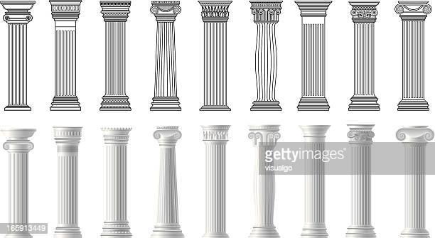 pillars - column stock illustrations