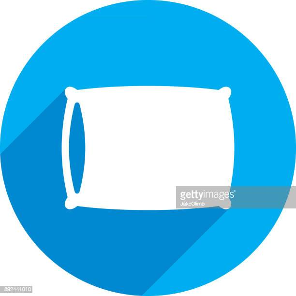 pillow icon silhouette - sleeping stock illustrations
