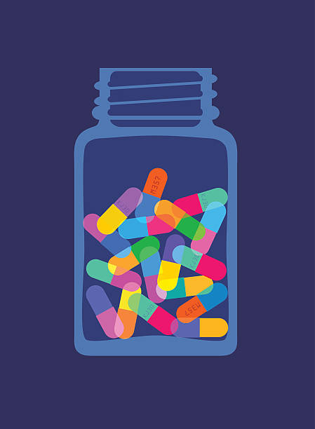 Pills And Capsules In Bottle Wall Art