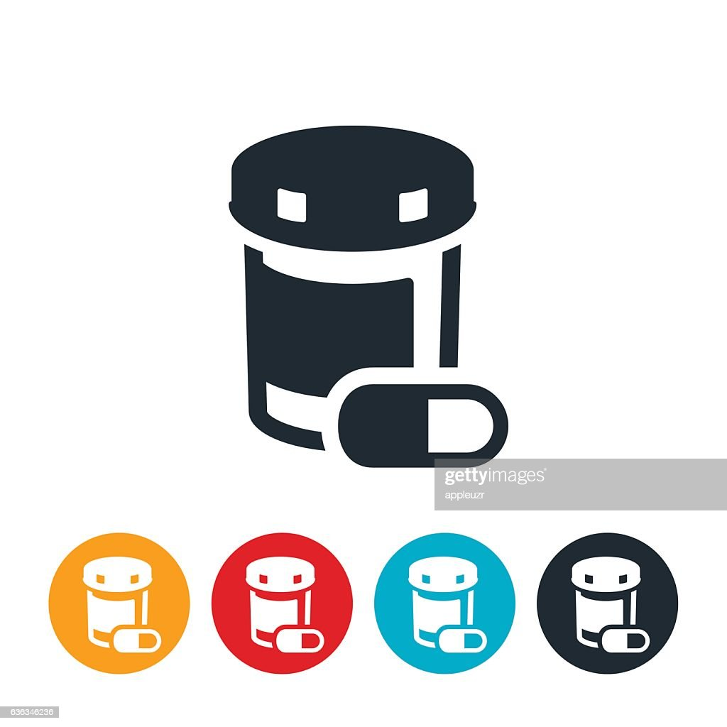 Pills and Pill Bottle Icon