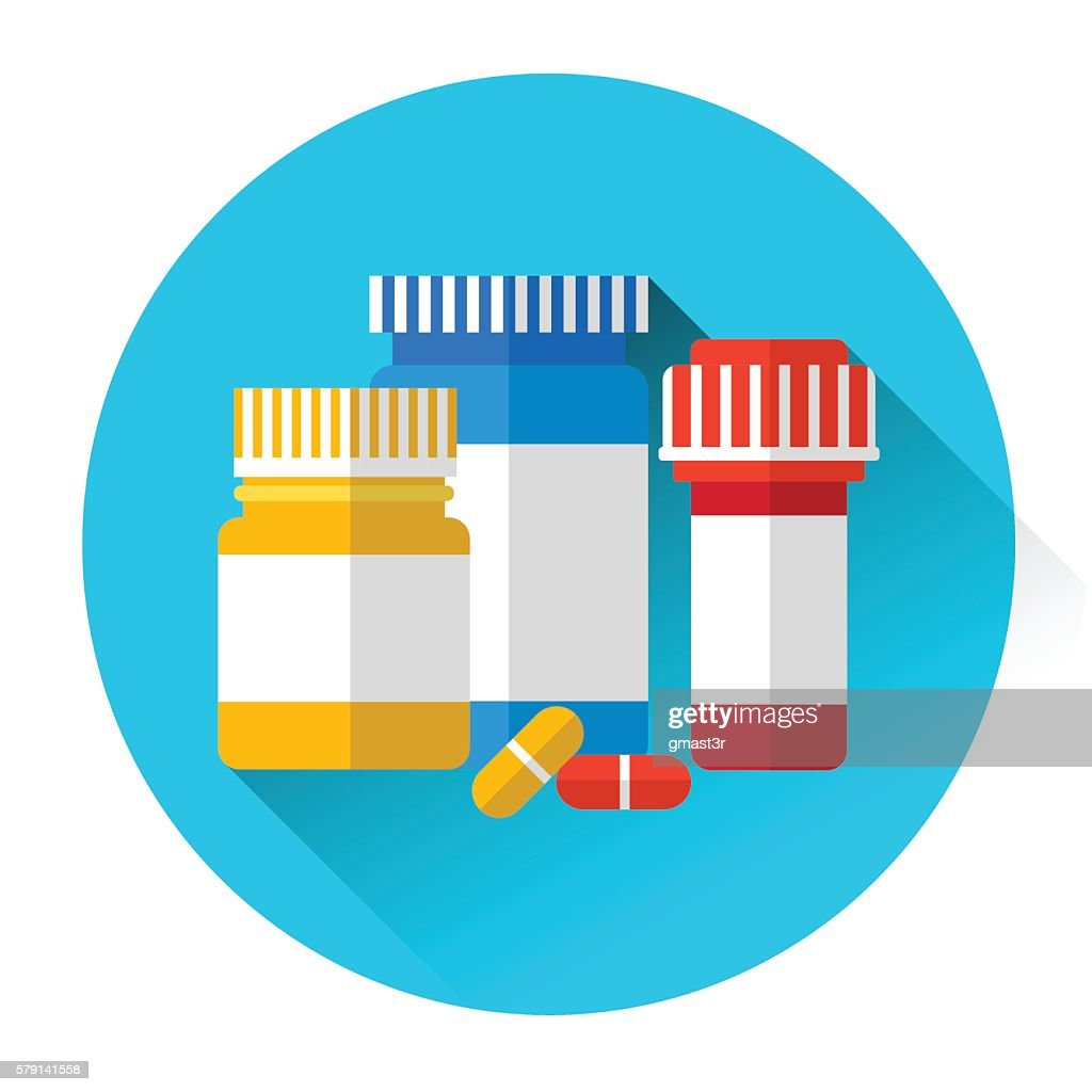 Pills Bottles Medicine Icon