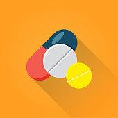 Pills Flat Icon