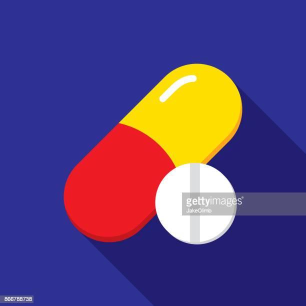 Pills Icon Flat