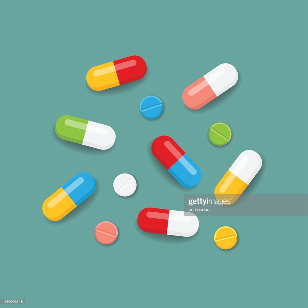 Pills in colors