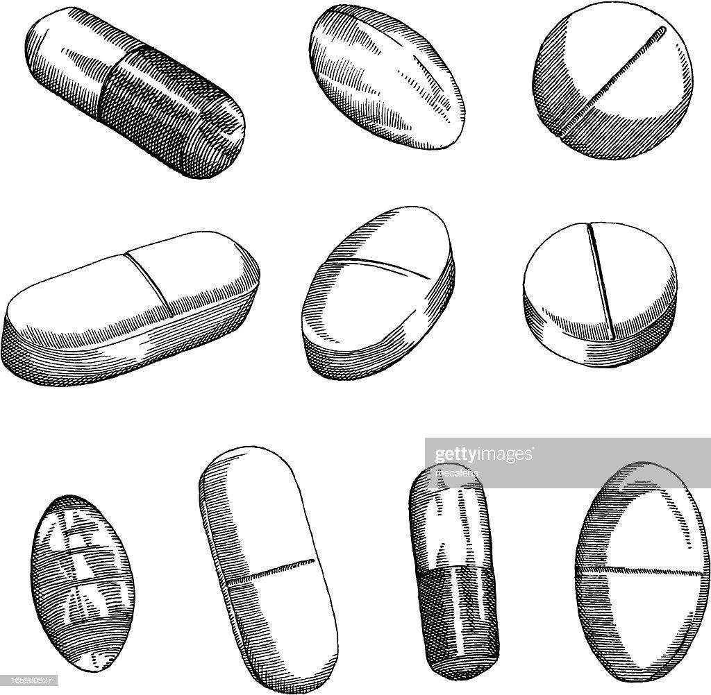 Comprimido : Ilustração