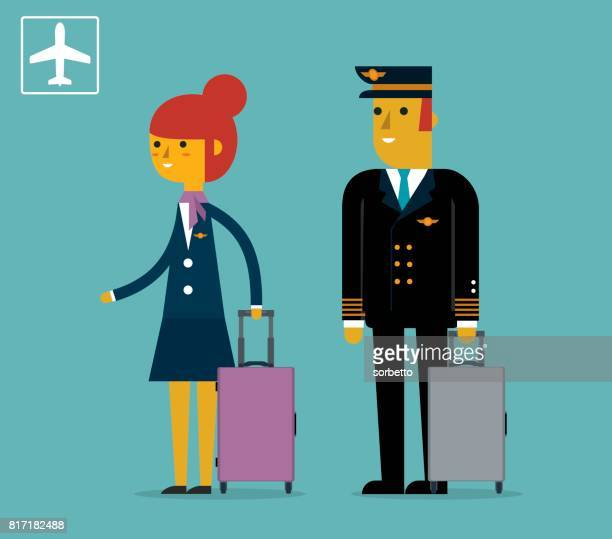 Piloot en stewardess