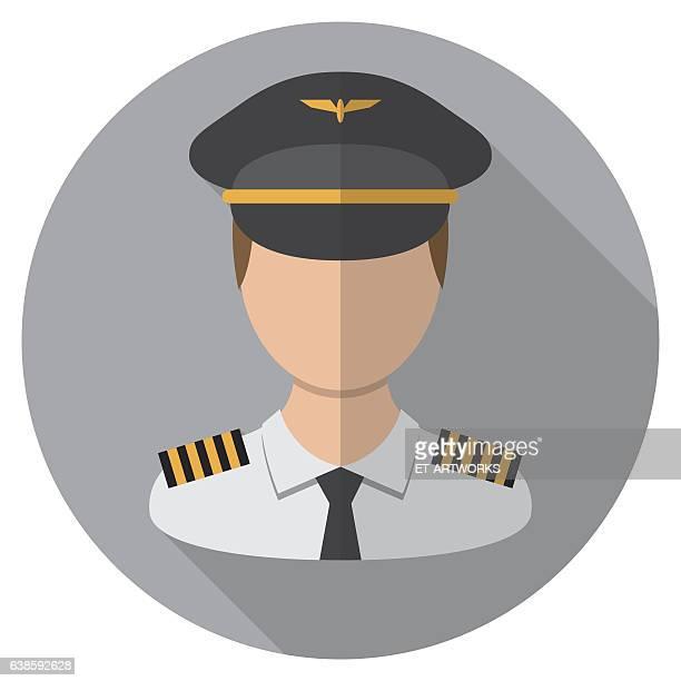 pilot icon - team captain stock illustrations