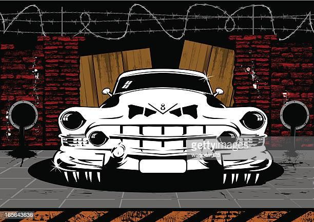 Pimped V8 classic car