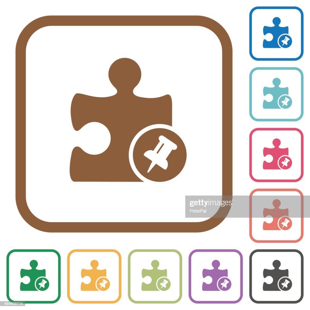 Pin plugin simple icons