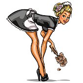 Pin Up cleaning girl