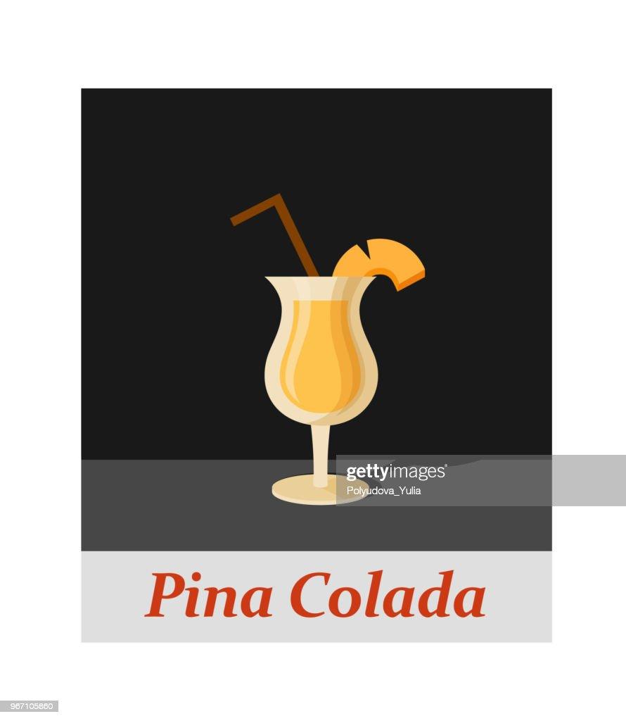 Pina colada cocktail menu item or any kind of design