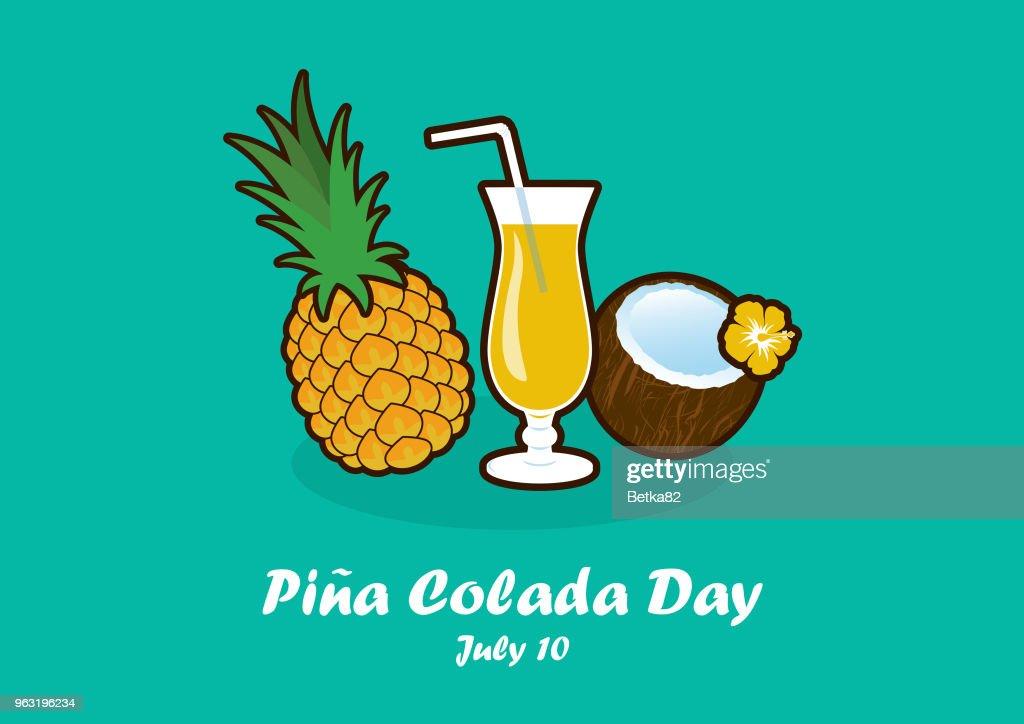 Pina Colada Day vector