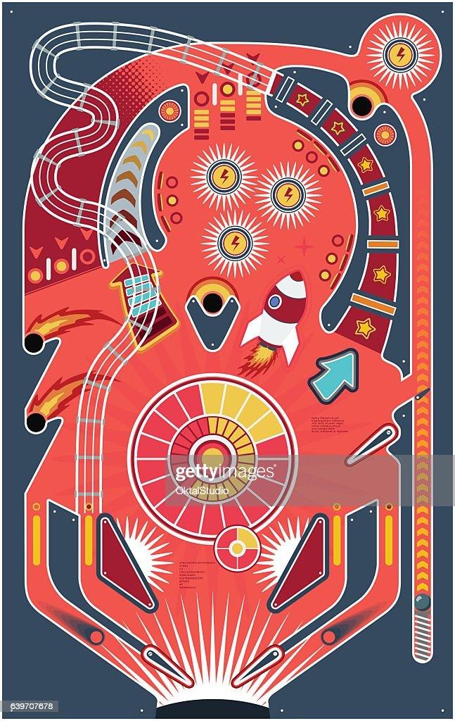 Pinball Game : stock illustration