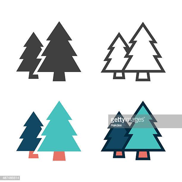 illustrations, cliparts, dessins animés et icônes de icône de pin - sapin