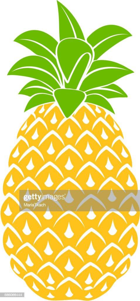 Pineapple icon symbol design vector illustration.