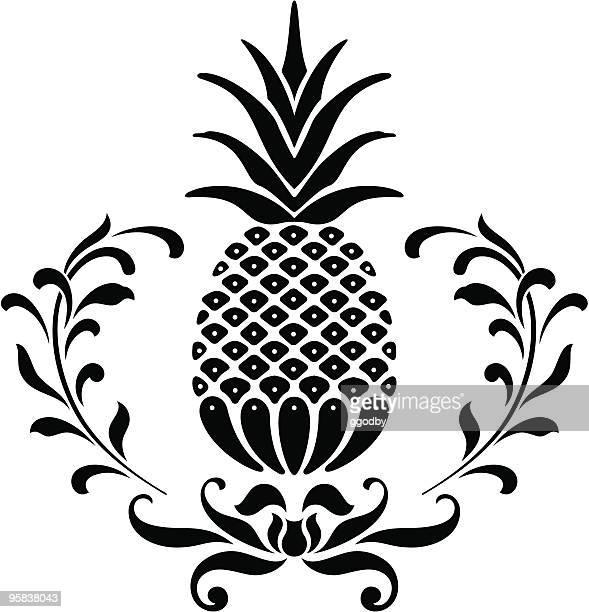 illustrations, cliparts, dessins animés et icônes de icône d'ananas - ananas