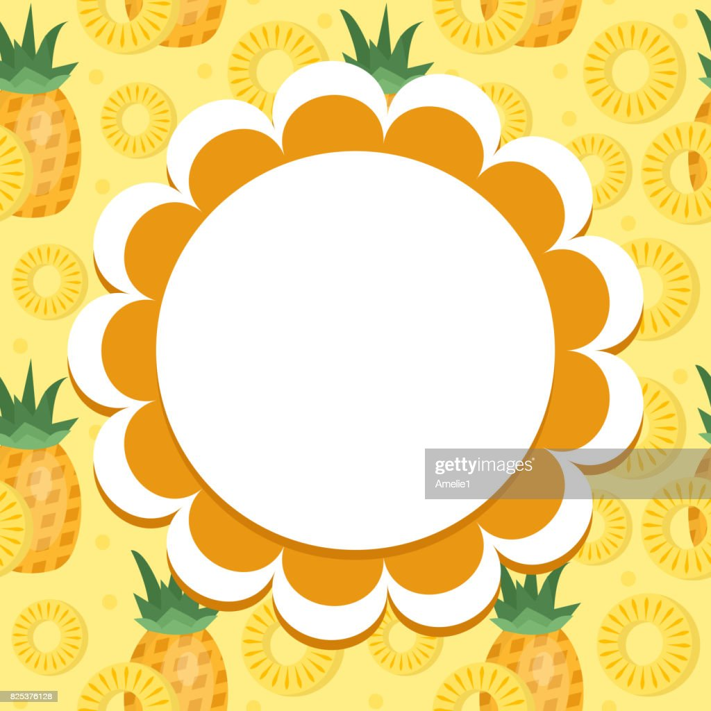 pineapple label wrapper template for your design fruit frame with