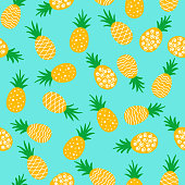 pineapple seamless pattern background.