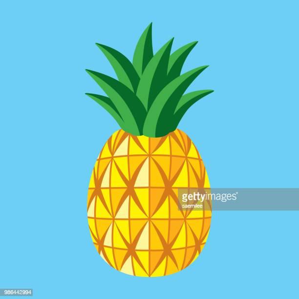 pineapple - fruit juice stock illustrations, clip art, cartoons, & icons