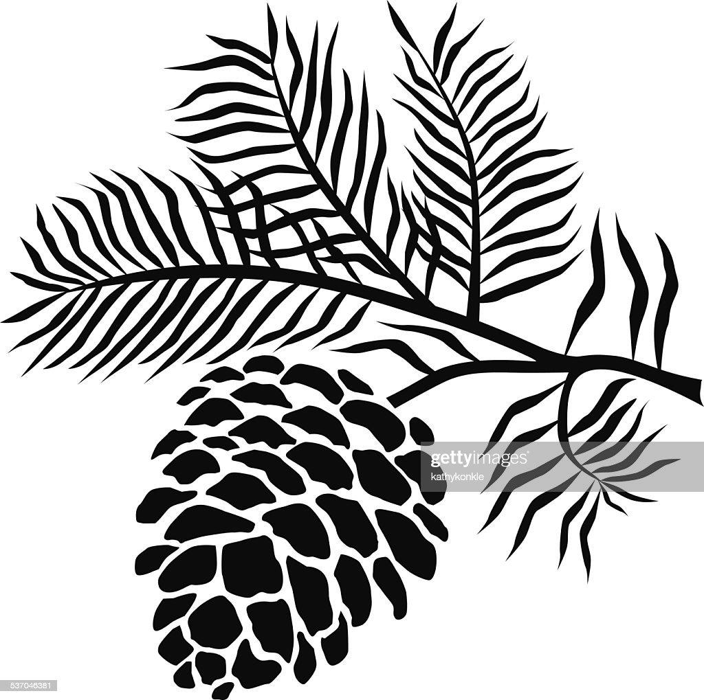 Black and White Clip Art Pine Needles
