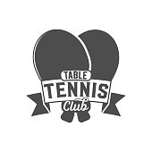 ping pong emblem, label, badge and designed elements