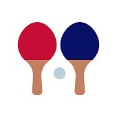 Ping pong icon vector icon. Simple element illustration. Ping pong symbol design. Can be used for web and mobile.