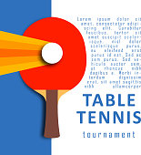 Ping pong racket and ball. Table tennis. Sport design
