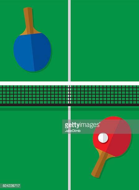 ilustraciones, imágenes clip art, dibujos animados e iconos de stock de mesa de ping pong - tenis de mesa