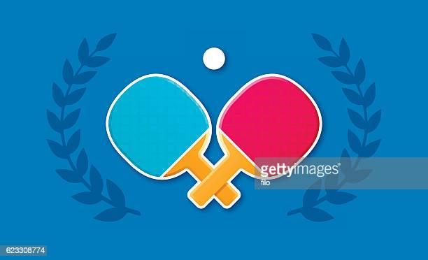 ilustraciones, imágenes clip art, dibujos animados e iconos de stock de ping pong - tenis de mesa