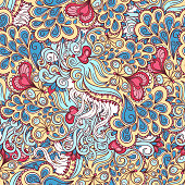 pink and blue pattern