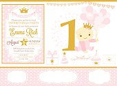 Pink and gold princess party decor.