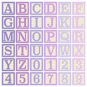Pink and Purple Alphabet Blocks