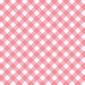 pink and white gingham background. vector illustration